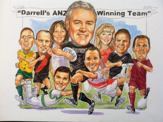 ANZ Team Caricature