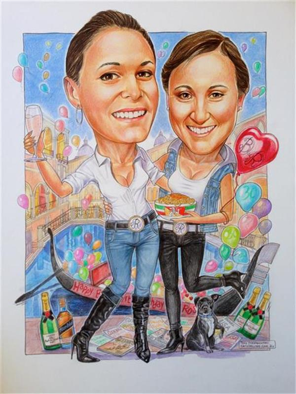 Anniversary portrait celebrating their friendship together