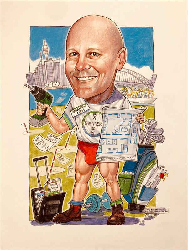 Bayer corporate caricature