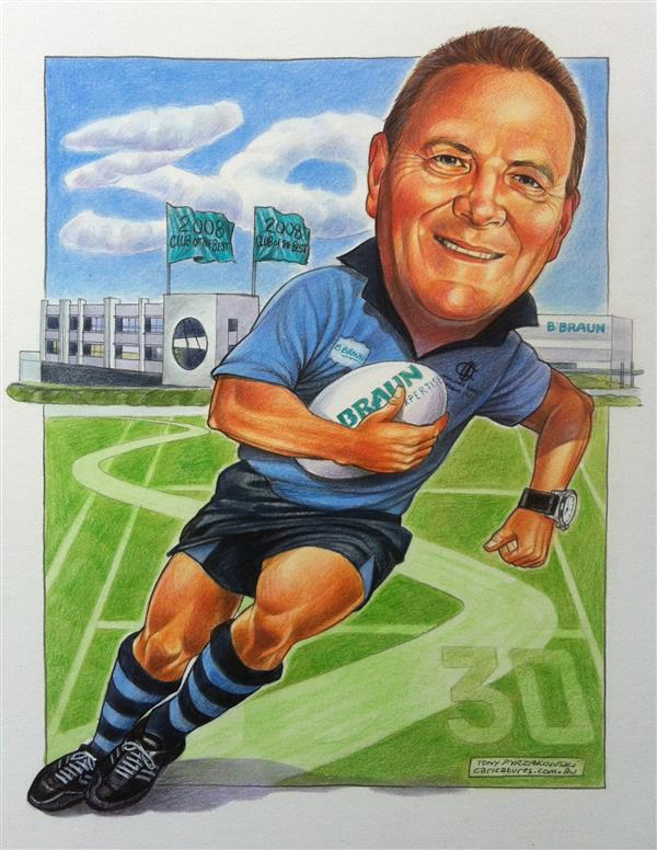 BRAUN leaving gift caricature