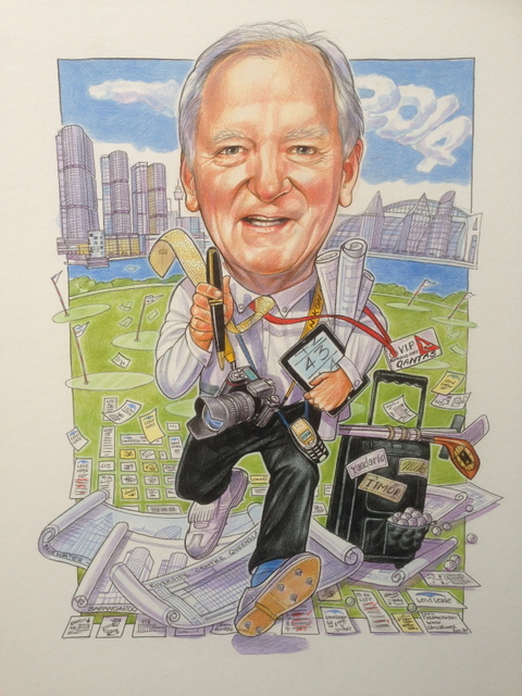 Lend Lease Corporate Caricature
