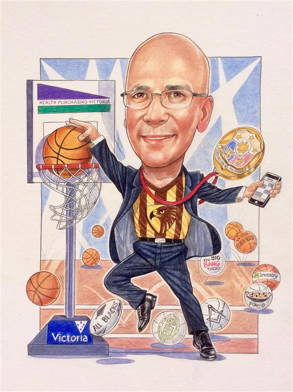 HPV victoria CEO leaving gift caricature
