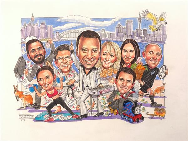 The Boss of IT was leaving. This is a caricature of the A Team.
