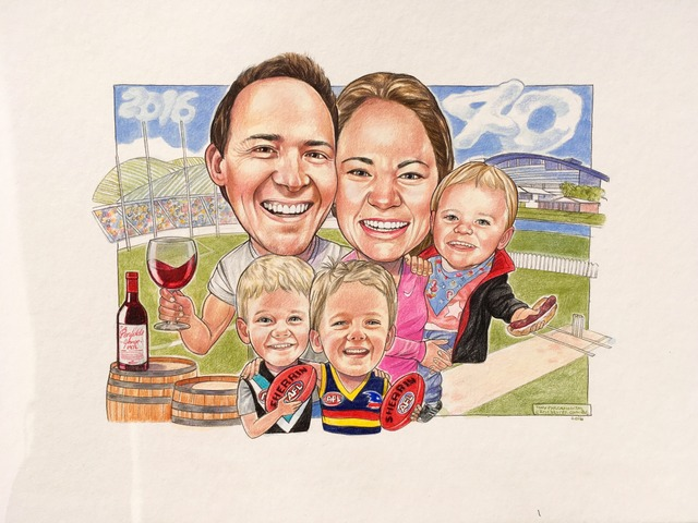 Family 'Footy' Caricature