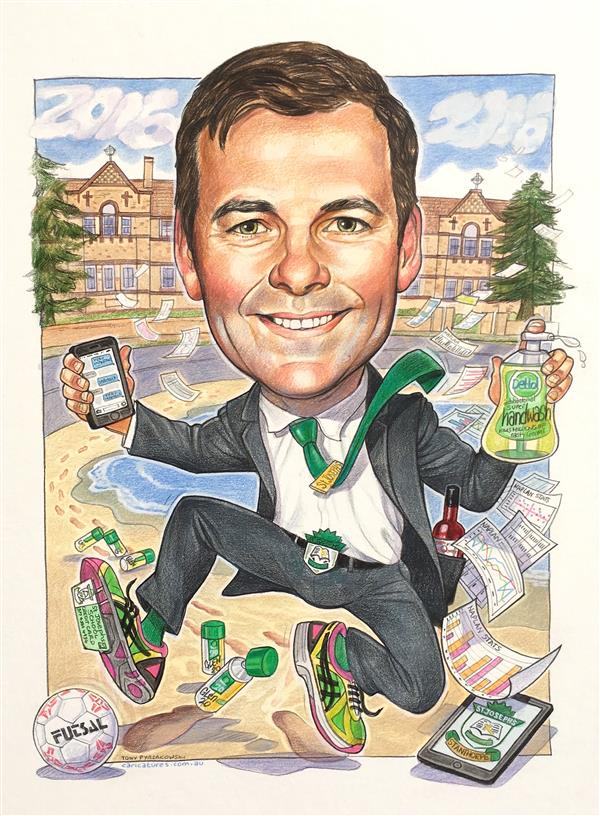 St Josephs school Stanthorpe leaving gift caricature