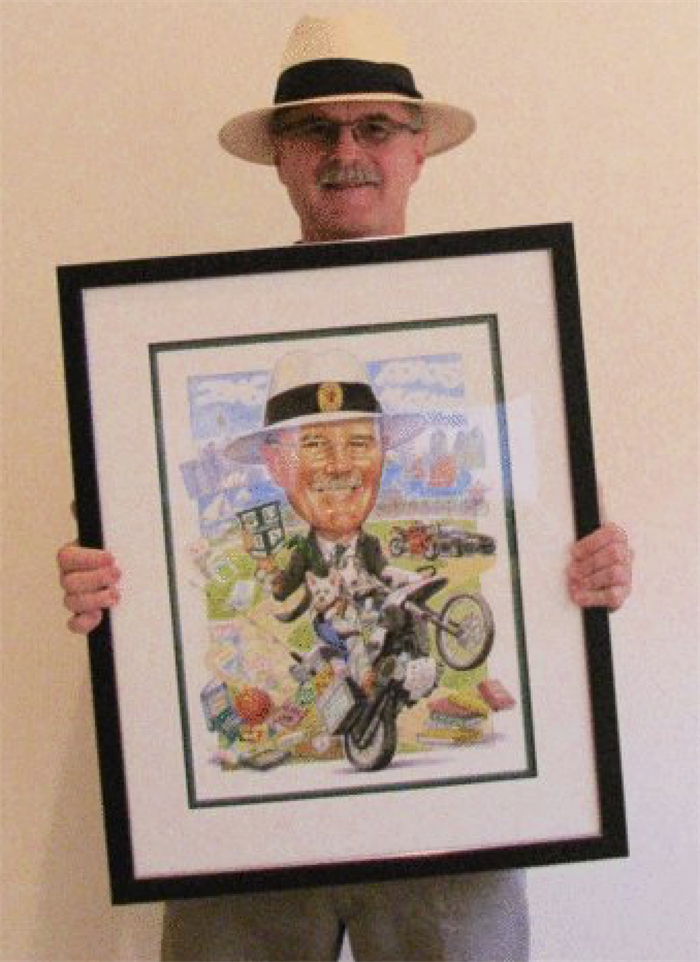 Retirement gift caricature