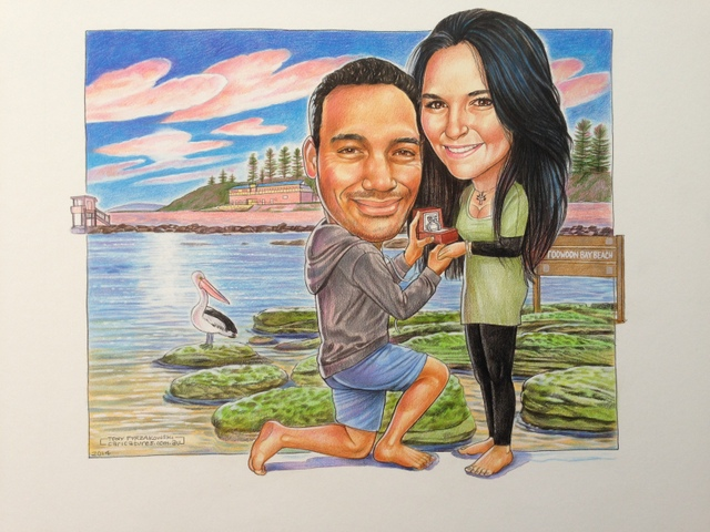 Engagement Caricature